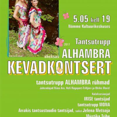 Tantsutrupp Alhambra üheksas kevadkontsert 2017