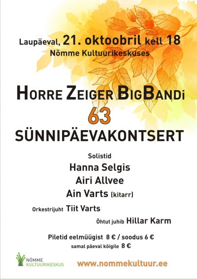 Horre Zeiger BigBand 63. sünnipäevakontsert