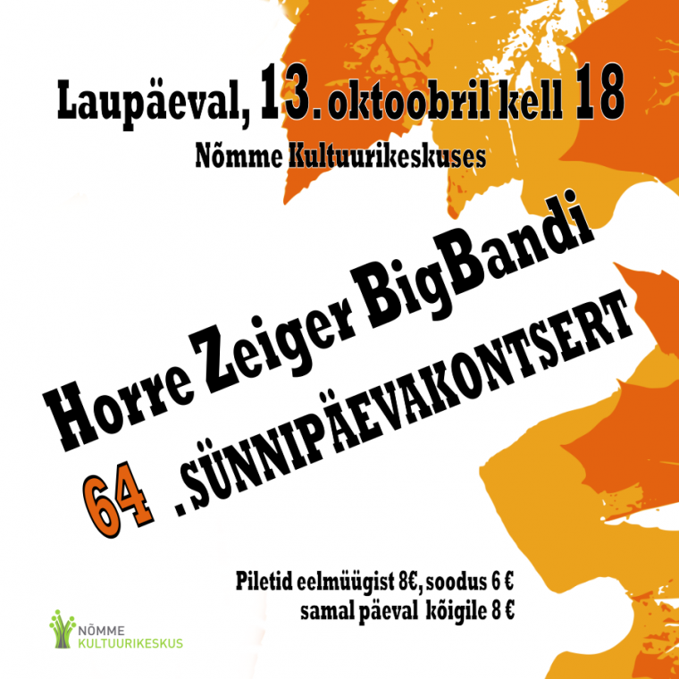 Horre Zeiger BigBand 64. sünnipäevakontsert