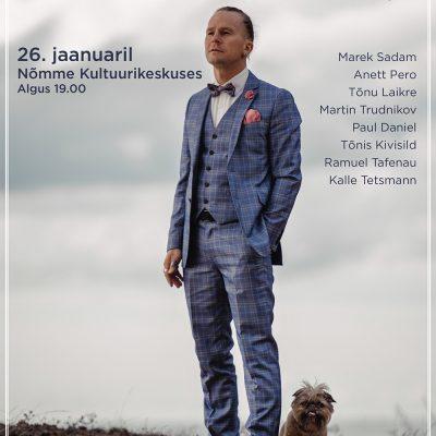 """Marek Sadam ja Sadamasild – Eksklusiivne sünnipäevakontsert ja raamatu """"Tulbid ja bonsai"""" esitlus"""