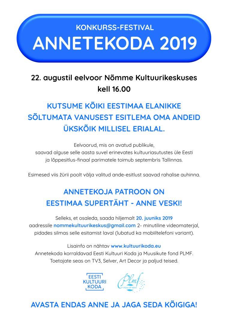Konkurss-festival Annetekoda 2019