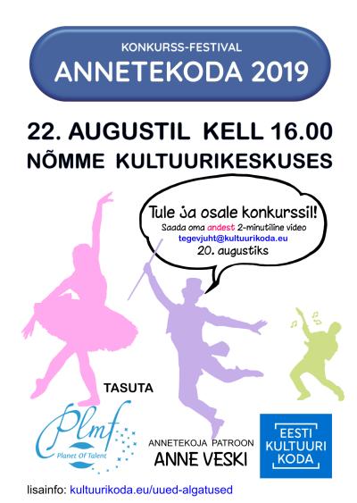 Konkurss-festival Annetekoda 2019 Tallinna eelvoor