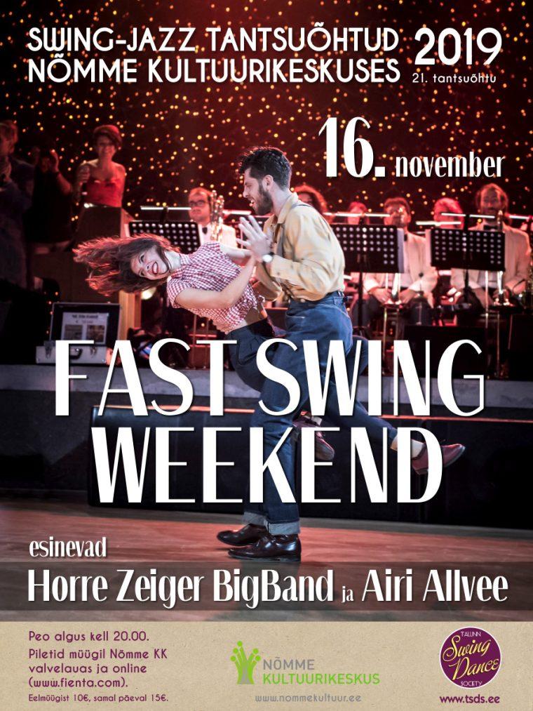 Swing-jazz tantsuõhtu FAST SWING