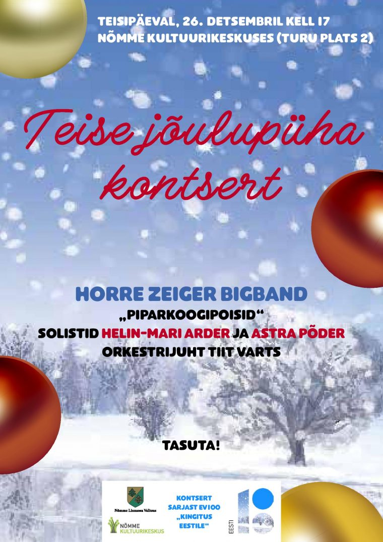 """Teise jõulupüha kontsert """"Piparkoogipoisid"""""""
