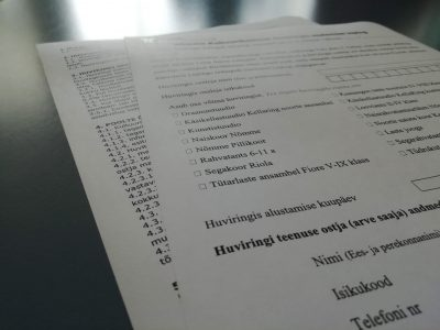 Kultuurikeskuse huviringidesse registreerimise kord on muutunud!