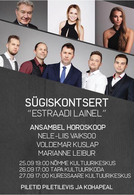 """sügiskontsert """"Estraadi lainel"""""""