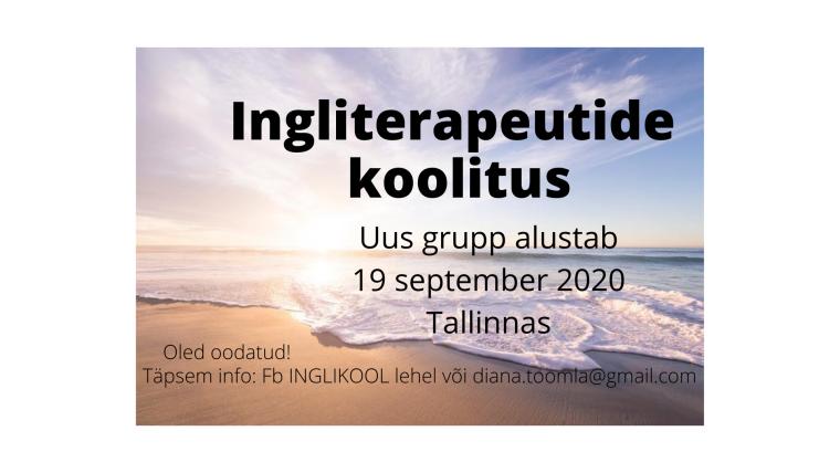 INGLITERAPEUTIDE KOOLITUS 2020