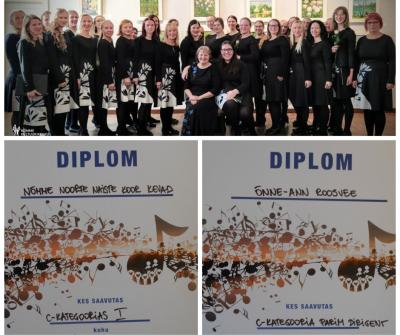 Noorte naiste koori Kevad saatis 15. Eesti Kammerkooride Festivalil edu